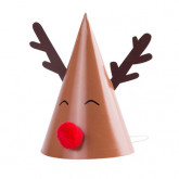 Ronds de serviette Rudolph x8