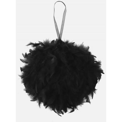 Boule géante en plume noir (30 cm)