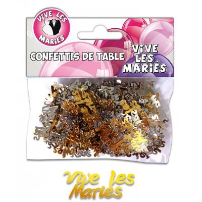 Confettis Vive les Mariés multicolore