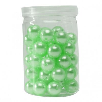 Petites perles nacrées (x50) vert anis