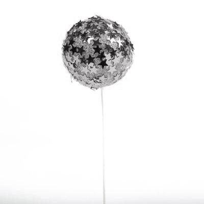 Boule pic étoiles argent (x3)
