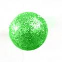 Petites boules vert anis pailletées sur tiges (x24)