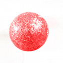 Petites boules rouges pailletées sur tiges (x24)