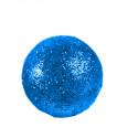 Grosses boules pailletées sur tiges (x6) turquoise