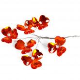 Fleurs cristal (x6) orange