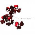 Fleurs cristal (x6) bordeaux