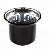 Photophore verre mercurisé noir