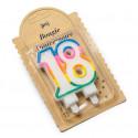 Bougie d'anniversaire multicolore 18