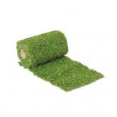 Chemin de table végétal en mousse sur jute