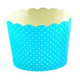 Petits pots plumetis (x 25) bleus