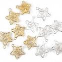 Mini étoiles fil (x6) argent