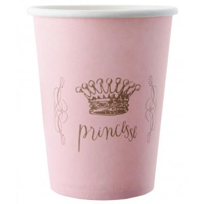 Gobelets déco princesse x6