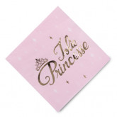 Serviettes princesse or x16