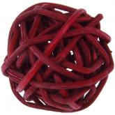 Mini boules en rotin (x12) bordeaux