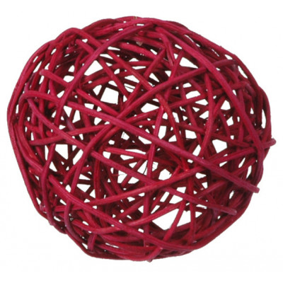 Boules en rotin bordeaux (x10)