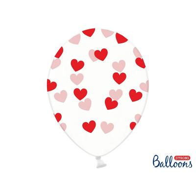 Ballons confettis multicolore - x6