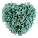 Coeur de fleurs menthe