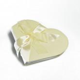 Livre d'or en forme de coeur ivoire