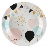Assiettes paillettes x10