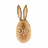 Oeuf lapin en bois Pâques