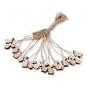 Ficelles lapinous en bois x16