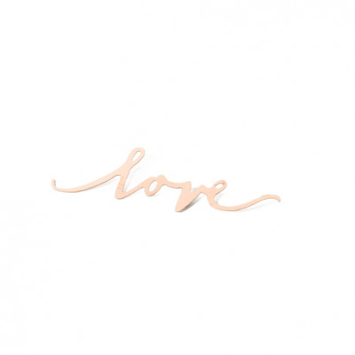 "Confettis ""love"" rose gold x10"