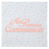 Serviette x20 communion corail