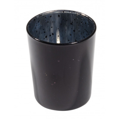Bougeoir noir métal
