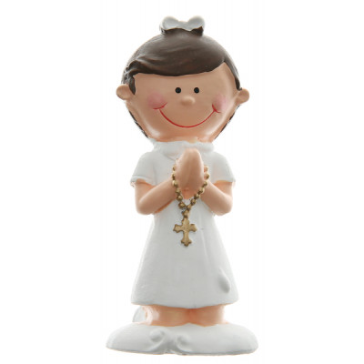 Figurine communion blanche x2