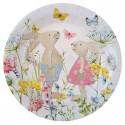 Assiette fleurie joyeuses Pâques x10
