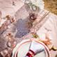 Chemin de table sequin rose gold