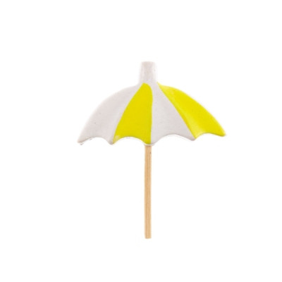 Pics parasol jaune x6