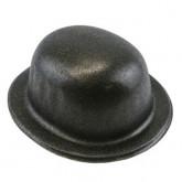 Chapeau melon noir à paillettes