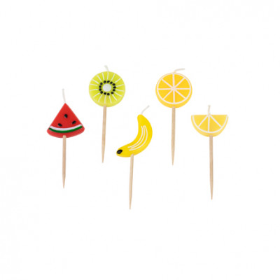 Kit de 5 bougies fruits acidulés