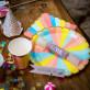 Crackers a confettis multicolores x8