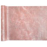 Chemin de table intissé métallisé rose gold