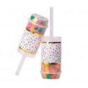 Confettis poppers multicolores x2