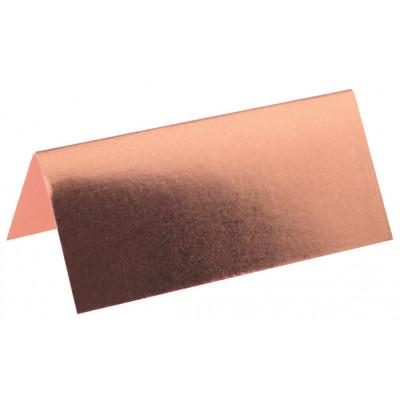 Marque-places métallisés (x10) rose gold
