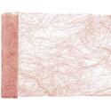 Chemin de table en abaca rose gold