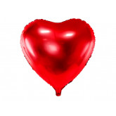Ballon métallique coeur rouge