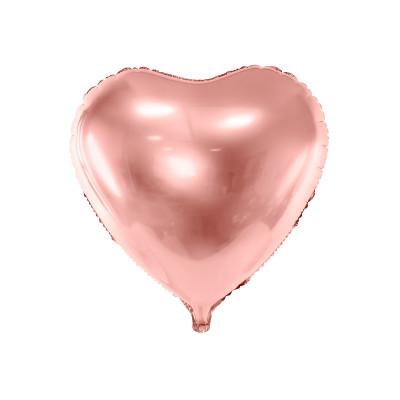 Ballon métallique coeur rose