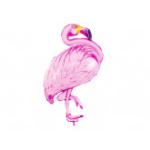 Ballon gonflable flamant rose