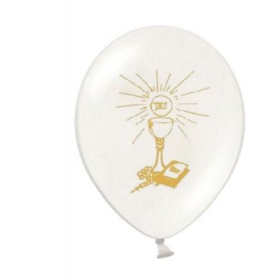 Ballon communion et baptême or