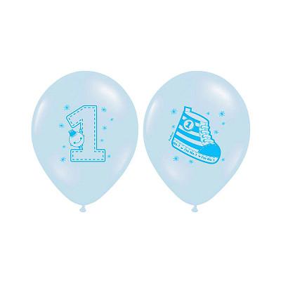 Ballon premier anniversaire bleu