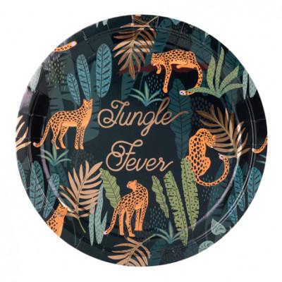 Assiettes Jungle Fever x8