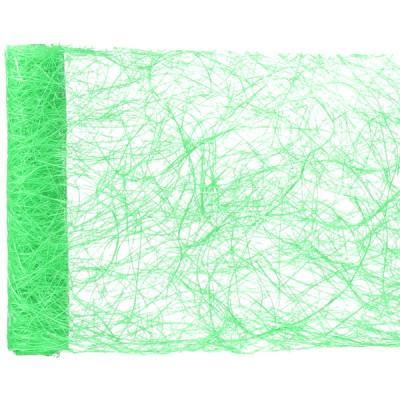 Chemin de table en abaca vert