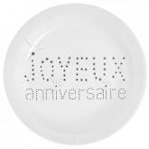Assiette chic blanc x10