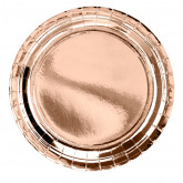 Assiette ronde Rose Gold x6