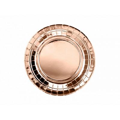 Assiette 18 cm ronde Rose Gold x6