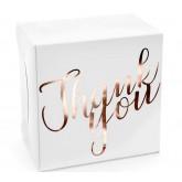 Boîte à gateau décoratif rose gold x10